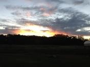 Sunset tonight from Prague Oklahoma