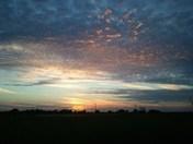 Medford, OK's gorgeous sunset Monday 9/22/14