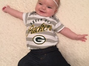 Ellie is a huge Packer fan!