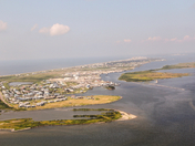 flying over Grand Isle