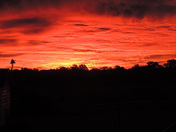Sunrise over Lynchburg, OH