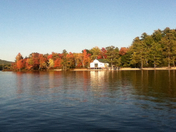camp Marist from lake