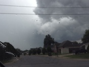 Wall cloud above Highland Park in Rogers at 3:10pm, Oct 1,2014