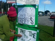 Palm Bay social entrepreneur gives out money wrapped in messages of hope
