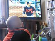 Nate watching his O's
