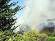 Seaside High Football field on fire. Sent By Justin Doolittle