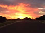 Sunset over Norman