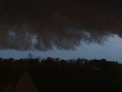 Storm clouds rolling and appear rotating
