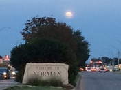 Full moon rising over Norman