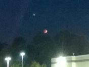 Possible UFO sighting during Lunar Eclipse