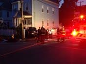 hit and run, car hits house
