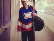 Dave McGrath of Skating for Hope raised over $12,000 for local cancer patients.