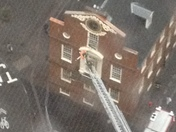 Boston Fire at Old State House During Storm
