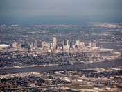 Pic of New Orleans flying from south