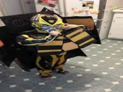 My Sons Epic Transformer Costume Transform Video