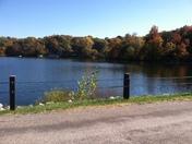 Fall colors over Black Swan Lake
