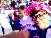 Divas In Action Mentoring Program support the Making Strides Walk Against Breast