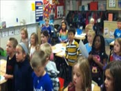 Mrs. Greening's class singing Centerfield