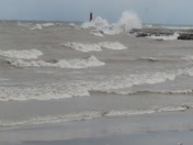 More Big Waves and Kayaks in Sheboygan