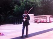 Soldier walking his post,Tomb Of The Unknown Soldier