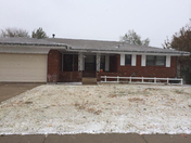 1st kinda snow in our new home