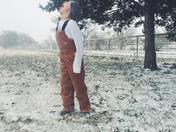 Tuck enjoying the snow!