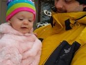 Babies first snow adventure