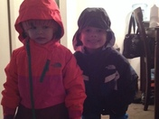 Baxter and Blair ready for snow