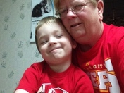 Grandson Collin and I ready for some Chiefs football! Ho Chiefs