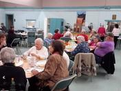 Thanksgiving dinner at the senior center..