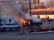 RT 3 car explosion in Plattsburgh