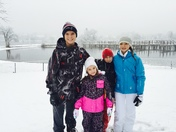 """SLEDDING FUN"" WITH COUSINS DURING FIRST SNOW OF THE SEASON!"