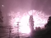 Transformer at the bottom of Putnam Street catches fire