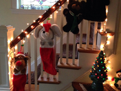 the stocking are hung by the banister with care, in hopes that St Nicolas soon w