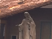 statue of St Theresa is spared