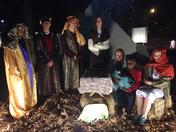 Raymon holding Baby Jesus