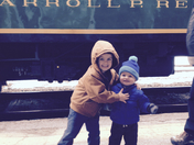 Brothers on the Santa's Holiday Express