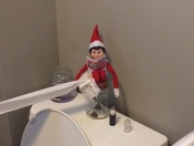 Jolly the elf making himself comfortable