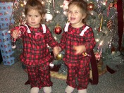 Andi and Paisley getting ready for Santa