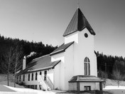 Catholic Church in winter