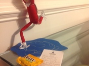 Elf on the shelf ice skating!