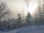 Sun and fog this morning 12/20/14