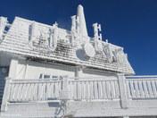 Ice Covered Gondola Building