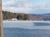 Ice has started to form on Lake Bomoseen.