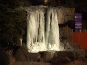 Ice falls at Hotel Cascada