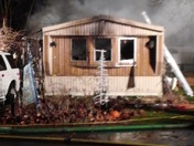 Fully Involved Mobile Home Fire in Ephrata