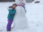 Rainy day snowman