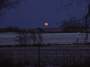 Red moon rising in Logan