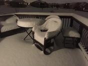 Snow patio