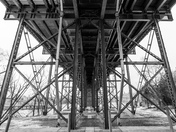 Underside of Pont Alexandra